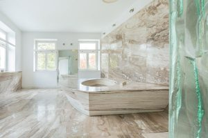 ... Marble Is A Perfect Material For Bathroom Vanity Countertops, Which  Frequently Have Hair Appliances, For Example Curling Irons, Hair Styling  Irons And ...